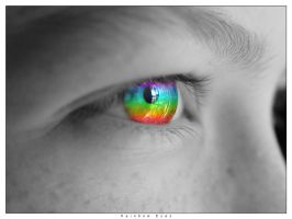 Rainbow Eyes by Unidan