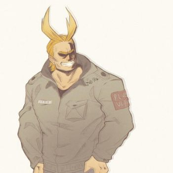 BNHA: All Might colored by DoodleHive