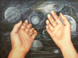 Hands in Space by ArtbyMHew