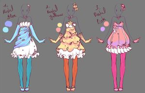 Outfits adopts 4 - Paypal Auction - Closed by rika-dono
