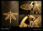Steampunk pendant : Swordtail1 by azazel-is-burning