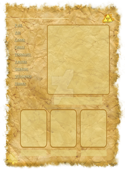 LoZ bio template by CyphonFiction