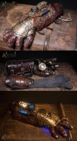 Ornate Steampunk Gauntlet by Aetherwerk