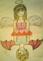 Angel-Demon -colored- by MarsLilyfang