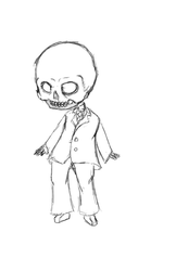 FossilFace Chibi Gif - Rough sketches by FossilFace26