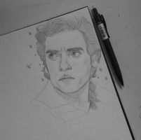 Poe Dameron sketch by notapanicfan