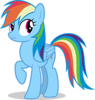 Mlp Fim Rainbow Dash (...) vector #4 by luckreza8