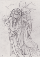 Nyarlathotep and Hastur by WhiteLedy