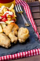 Chiken Wings with Fries 1A SanchiEsp by sanchiesp