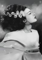 Bride of Frankenstein by Mellodee