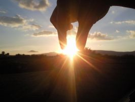Holding the Sun up by smile-life-is-short