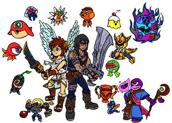 WMDiscovery93 230 31 Kid Icarus Sketches By SmashToons