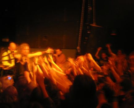 Jonne and the fans by Korpiklaani-fanclub