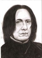 Alan Rickman as Severus Snape by MajaGantzi
