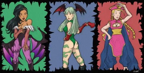 Street Fighter X Darkstalkers by Llewxam888