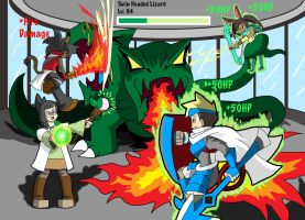 4-Player Boss Fight by ObsidianWolf7