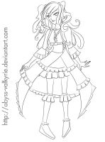 Frill design lineart by Abyss-Valkyrie