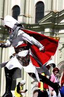 ACB Ezio Cosplay - jump by LadyBad