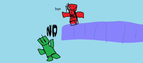 me playing minecraft by Whiskerii
