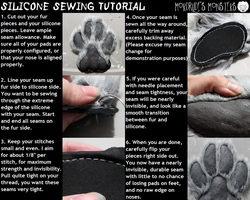 Silicone sewing tutorial by fenrirschild