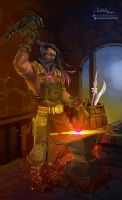 Commission: Blacksmith by Hassly
