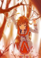 Mirai Suenaga - Orange Automne by Sedeto