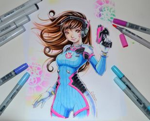 D.Va - Christmas Giveaway! by Lighane