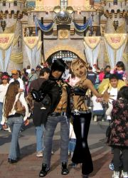Tess and Stalker At Disneyland by Wolfhawk