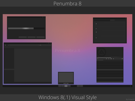 Penumbra 8 - Windows 8(.1) visual style by Scope10