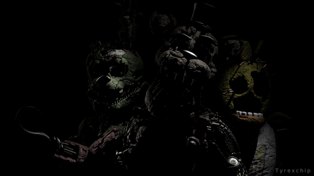 SFM   Stylized FnAF6 Characters Render by Tyrexchip