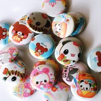 Kawaii buttons by hellohappycrafts