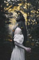 Wilted gold of the faceless forest by NataliaDrepina