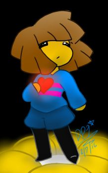 Frisk is Determined by DeathPuppy9000