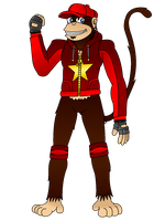 (Revised) Diddy Kong Redesign - Color by Varia31