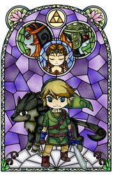 Twilight Princess Stained Glass, Purple Version by Ranefea