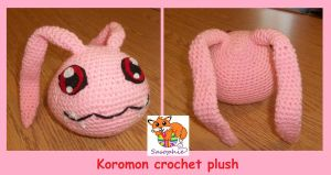 Koromon crochet plush by Sasophie