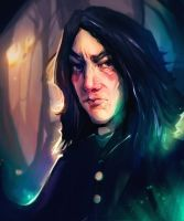 Severus Snape and his pots by Vanarai