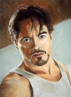 Robert Downey Jr as Tony Stark by thecory