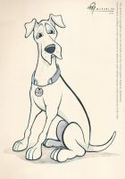 Great Dane Caricature Sketch by timmcfarlin