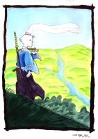 Usagi Yojimbo on Hill by SurfTiki