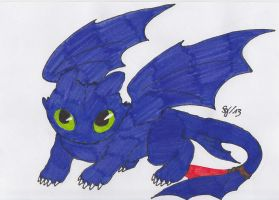 How to Train Your Dragon - Night Fury Toothless by Saja-san