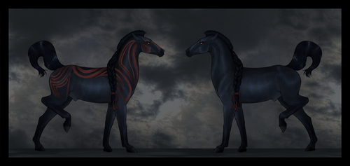 War Horse Character [AUCTION] [OPEN] by TheAdoptArtist