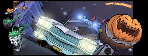Revved Up The Ectomobile by DanSchoening
