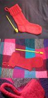 Fulled Christmas Stocking by Cozie