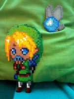 Link Sprite with Ocarina (and Navi) by Sparkplug223