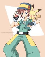 Pokemon Fanart - Ritchie and Sparky by PixiTales
