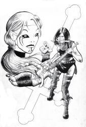 Hack Slash cover inks by stuck-in-tree