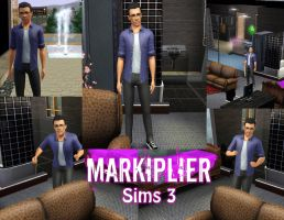 Markiplier: Sims 3 by PrinnyOverlordAlly