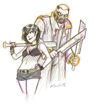 Hack Slash Sketch by msciuto