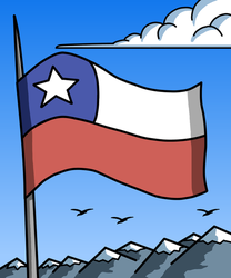 Chilean flag by Maleiva